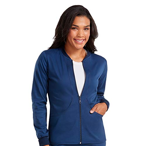 269e6067cb0 Med Couture Touch Women's Zip Front Warm Up Scrub Jacket   Weshop ...