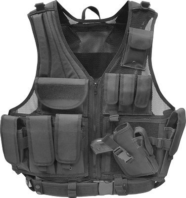 Firepower Deluxe Tactical Vest Black by Fire Power