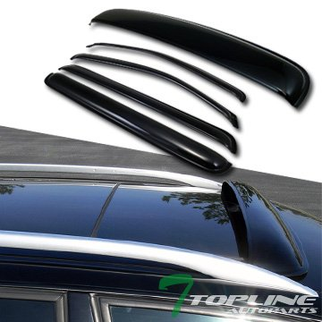 Sun Rain Wind Vent Window Visors+Moonroof Moon Roof Deflector Fit 05 Pathfinder
