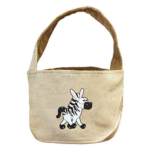 Style in Print Zebra Walking Right Animals Canvas and Burlap Storage Basket by Style in Print