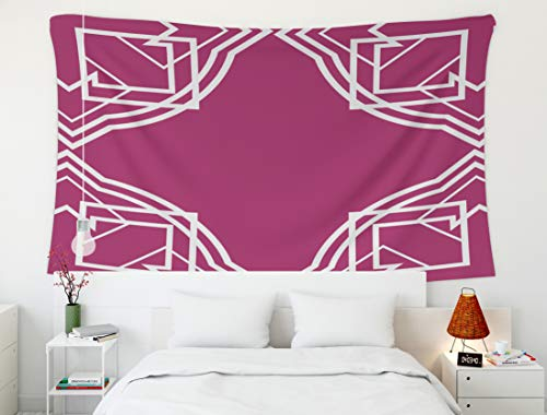 Crannel Wall Tapestry, Deco Frame Jewel Tone Tapestry 60X50 Inches Wall Art Tapestries Hanging for Dorm Room Living Home Decorative