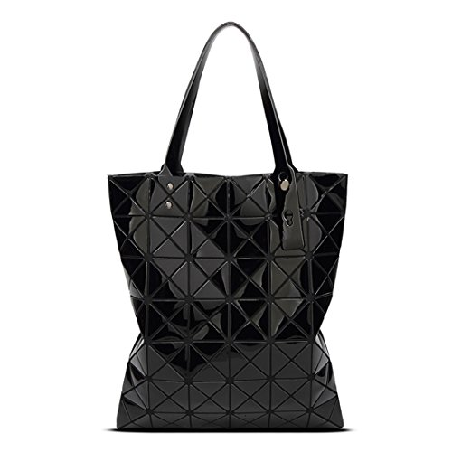 Silver 7 shaped Bag Bag Patchwork Holographic Of Diamond 6 Bao 39x34 Pvc Bags Shoulder Black Women Geometry Baobao Laser Bao n8vTfxa18