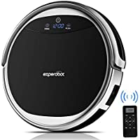 Robotic Vacuum Cleaner Experobot EX501 Higher Suction for Hard Flood and Carpet, 4 Cleaning Mode and Mechanical Water Tank Wet/Dry Mopping, Self Charging and Drop &Infrared Sensing Technology