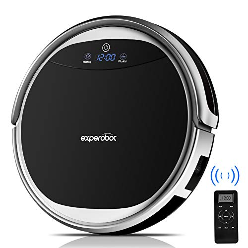 Cheap Robotic Vacuum Cleaner Experobot EX501 Higher Suction for Hard Flood and Carpet, 4 Cleaning Mode and Mechanical Water Tank Wet/Dry Mopping, Self Charging and Drop &Infrared Sensing Technology
