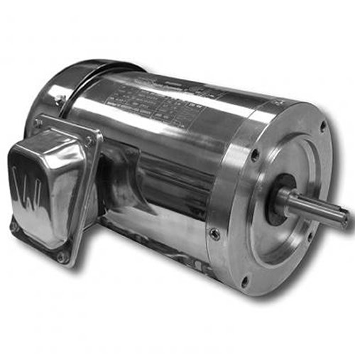 (Worldwide Electric WSS12-18-56CRD Stainless Steel/Washdown Duty Motors Three-Phase-TEFC Enclosure -C-Face, 1/2 hp, 1800 RPM, 56C Frame, 208-230/460 Voltage, 0.8 Amp, Round Body)