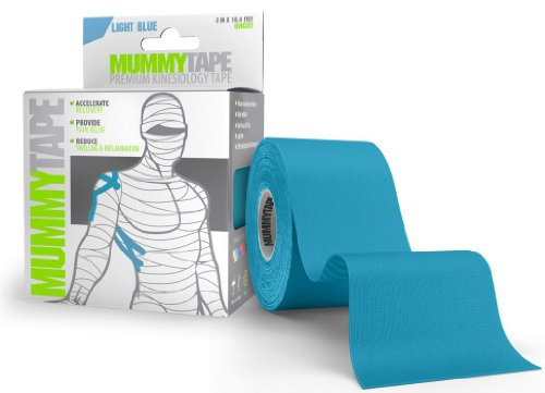 "MummyTape Premium Kinesiology Tape | Extra Sticky Waterproof Adhesive | 2 "" x 16.4 ft Uncut Roll 
