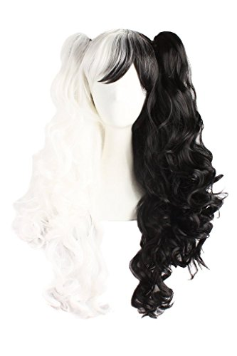 TINYUNICORN Lolita Long Curly Clip on Ponytails Cosplay (Realistic Dreadlock Wig)