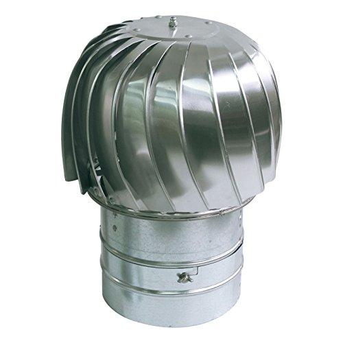 - Standard Spinning Chimney Cowl Spinner Aluminum Downdraught Ventilation 130mm