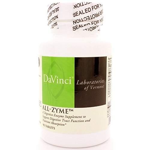 DaVinci Laboratories of Vermont All-Zyme Digestive Enzyme, 90 Count (Proteolytic 90 Tablets Enzymes)