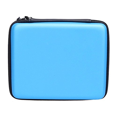 Asiv Hard EVA Protective Storage Zip Travel Case Cover Bag Holder with Carry Handle for Nintendo 2DS Blue