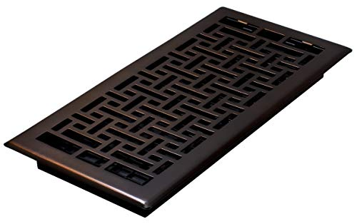 Decor Grates AJH614-RB Oriental Floor Register, 6-Inch by 14-Inch, Rubbed Bronze ()