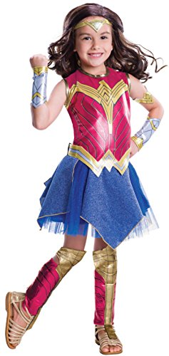 Rubie's Costume Batman vs Superman: Dawn of Justice Deluxe Wonder Woman Costume, (Wonder Woman Halloween Costume For Girls)