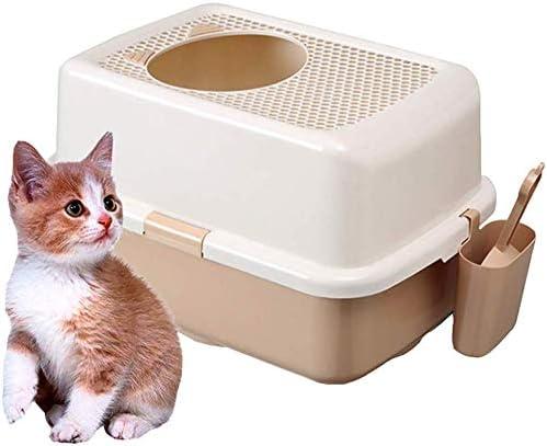 QSs-Ⓡ Inodoro para Gatos: Caja de Arena para Gatos Superior ...