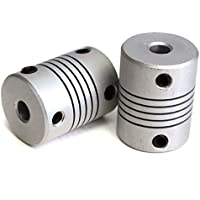 REES52 2 PCS 5x8mm Motor Jaw Shaft Coupler Aluminum 5mm 8mm Flexible Coupling for 3D Printer Z Axis For RepRap