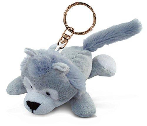 Puzzled Wolf Plush Keychain