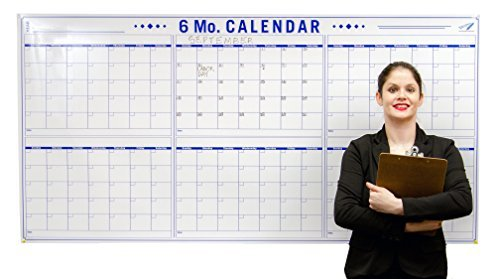6 Month Large Dry Erase Calendar for Wall -36 x 72 inch Office Wall Calendar - Big Calendar for 6 Month Planning