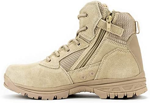 "First Class 6"" Coolmax Lining Ryno Gear Tactical Combat Boots (Beige)"