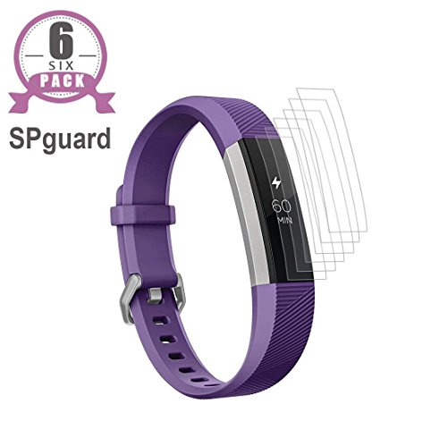 SPGuard Compatible Fitbit Ace Screen Protector (6-PACK) LiQuidSkin Screen Protector[HD-Clear][Anti-Fingerprint][Bubble Free] Water Coagulation Membrane for the Fitbit Ace/Alta/Alta HR for kids 8+