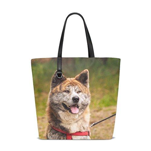 Brown White Fluffy Puppy Pet Tote Bag Purse Handbag For Women Girls ()