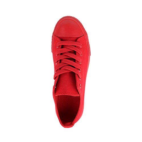 Lacets Chaussures de Femmes Basic Elara Red Sport New All Loisirs Baskets Low wX8FfqI