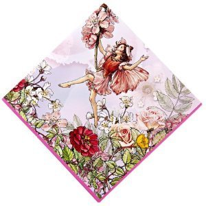 Garden Fairy Lunch Napkins - Meri Meri Flower Fairies 6-1/2-Inch Large Napkins, 20-Pack