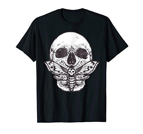 Vintage Skull Tshirt - Moth & Skull Goth Tee Shirt ()