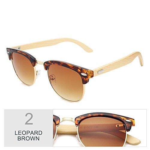 De De Frío Brown Hombre Negro Mujer Unisex Gafas Elegante Gafas Gafas Leopard Lentes Tac Sol Retro Azul Madera TIANLIANG04 Plaza Exterior Gafas 5qw1Z88v