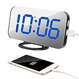 Alarm Clock with Dual USB Charging Port, TISSA Digital Desk Clock...