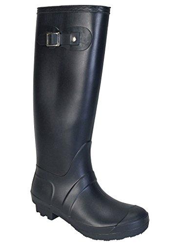 Bamboo Women's Padinton-01 Rain Boot, Black, 9.0 D  US