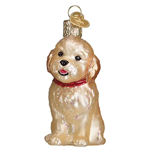 Old World Christmas Cockapoo Puppy Glass Blown Ornament by Old World Christmas