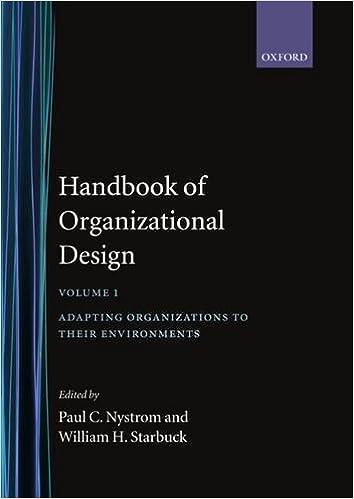 Handbook of Organizational Design