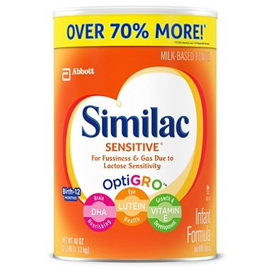 Similac Sensitive Infant Formula (40 oz.)