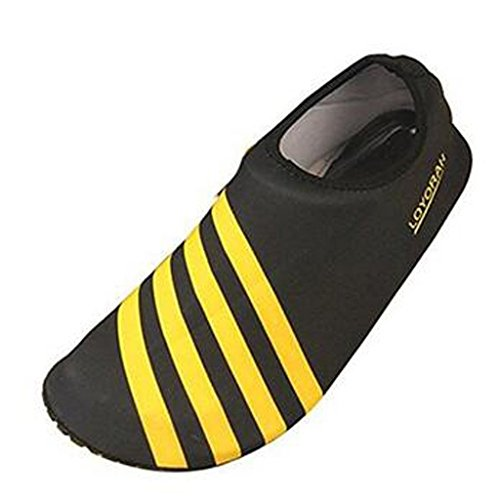 SAGUARO Quick Drying Swimming Beach Swimming Water Skin Shoes Aqua Socks Gelb
