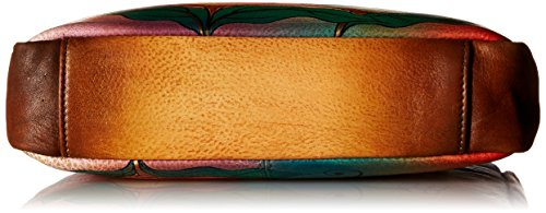 Bag Shoulder Wild 8058 Handpainted Flower Leather Anuschka WFL qwx1PavU