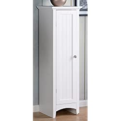 American Furniture Classics OS Home One Door Kitchen Storage Pantry, White