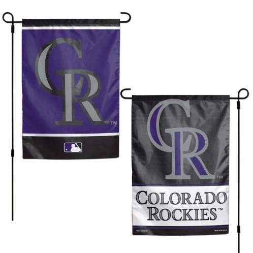 WinCraft MLB Colorado Rockies Flag12x18 Garden Style 2 Sided Flag, Team Colors, One Size