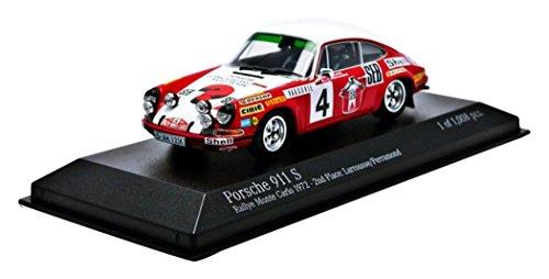 Minichamps 1:43 Scale 1972 Porsche 911S SEB Larrousse/Perramond Rally Monte Carlo Car (Orange)