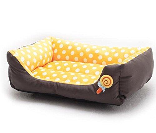 Cat Warmer Mat Warm Wave Point Lollipop Pet Nest Pet Supplies orange