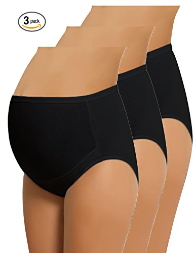NBB Lingerie Women's Plus Size Maternity Panties High Cut Cotton Over Bump Underwear Brief - Sizes Small to XXX-Large