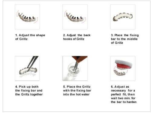 Hip Hop Top Silve Tone 2 Row Clear Cz Bling Removeable Mouth Grillz by L & L Nation (Image #3)