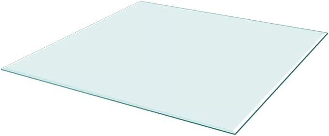 SOULONG Superficie Tavolo in Vetro Temperato 700x700mm Pranzo Piano Tavolo Rettangolare in Vetro Moderno per caff/è