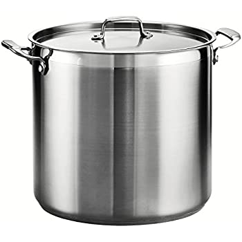 Tramontina 80120/003DS Tramontina Gourmet Stainless Steel Covered Stock Pot, 24-Quart