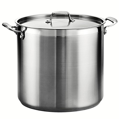 Tramontina 80120/003DS Tramontina Gourmet Stainless Steel Covered Stock Pot, 24-Quart by Tramontina