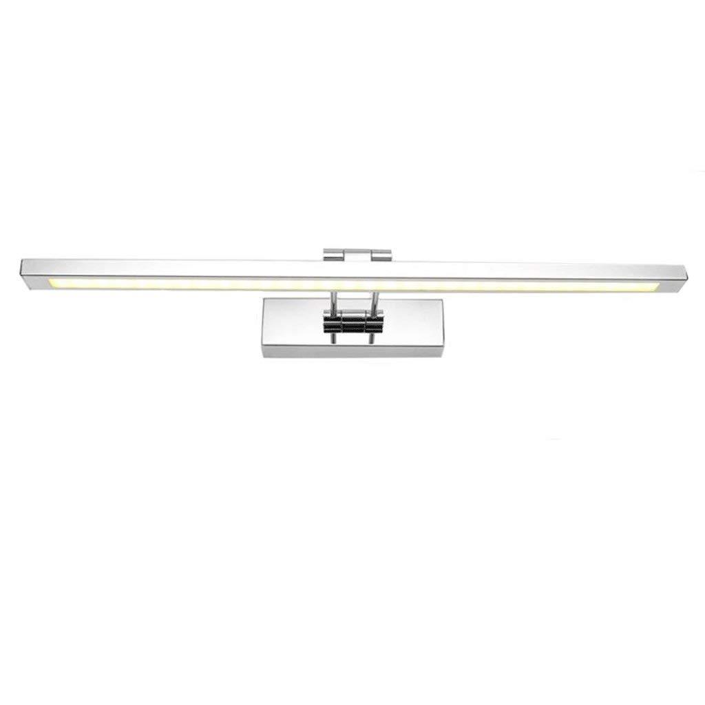 Warm Light-l80cm 16w ZTMN Moderne Mode Einfachen Edelstahl Bad led Spiegelleuchte Bad Wandleuchte Spiegel Schrank Licht Schlafzimmer Make-Up Licht (Farbe  Warmes Licht-L80cm   16W)