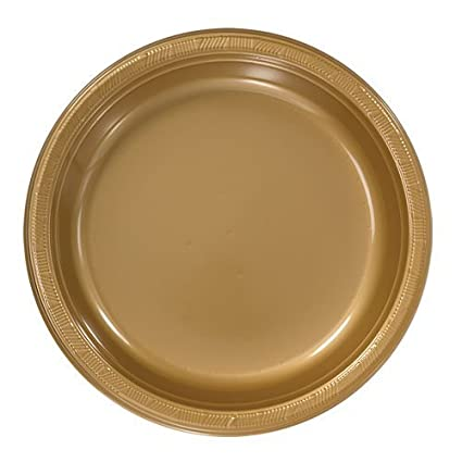 Hanna K. Signature Collection 50 Count Plastic Plate 9-Inch Gold  sc 1 st  Amazon.com & Amazon.com: Hanna K. Signature Collection 50 Count Plastic Plate 9 ...