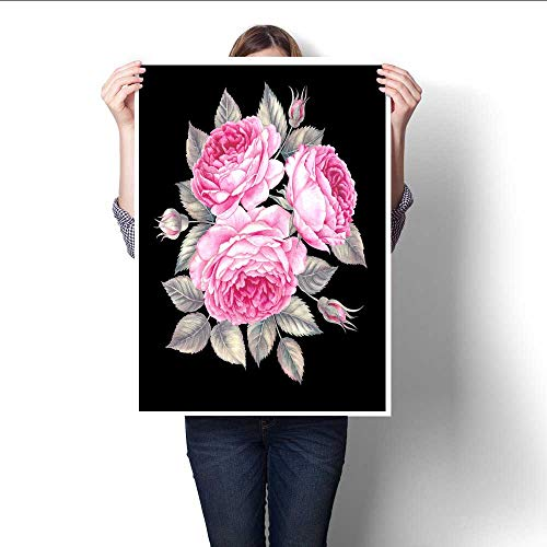 t Wall Art Bouquet of Rose Watercolor can be Used as Greeting Card Invitation Card for Wedding Birthday and Other Holiday and Summer Background Artwork for Wall Decor 16