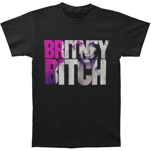 Britney Spears Men's Britney Bitch Eyes T-shirt Black