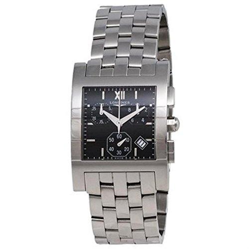Reloj Longines Unisex l5.668.4.75.6 al cuarzo (batería) acero quandrante negro