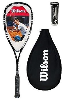 3 Dunlop Squash balles wilson Hyper Marteau 120 PH Squash RAQUETTE