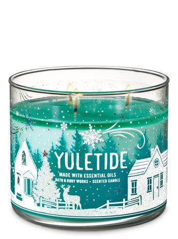 Bath and Body Works 3 Wick Scented Candle in Yuletide 14.5 Ounce
